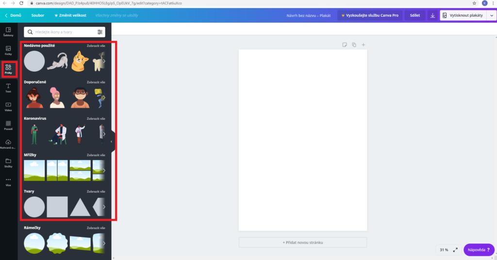 jednoduchý a uživatelsky přívětivý grafický program
