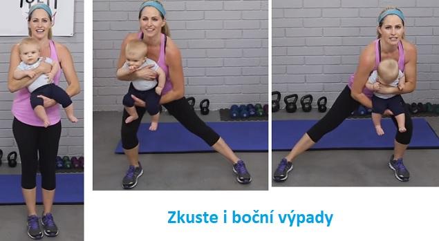 cvičení s miminkem v náruči